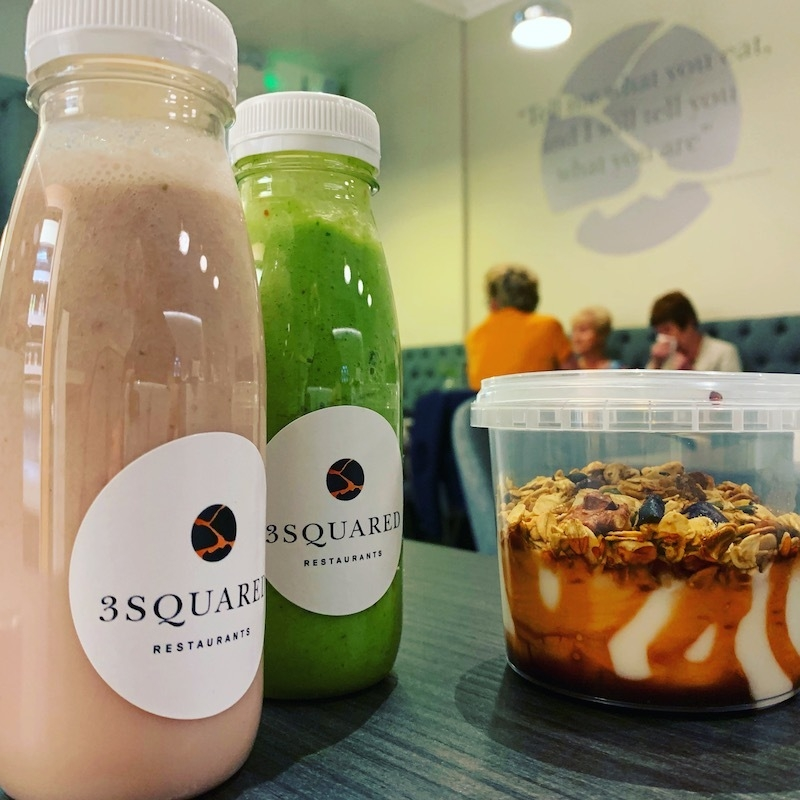 3 Squared Breakfast Pot And Smoothies