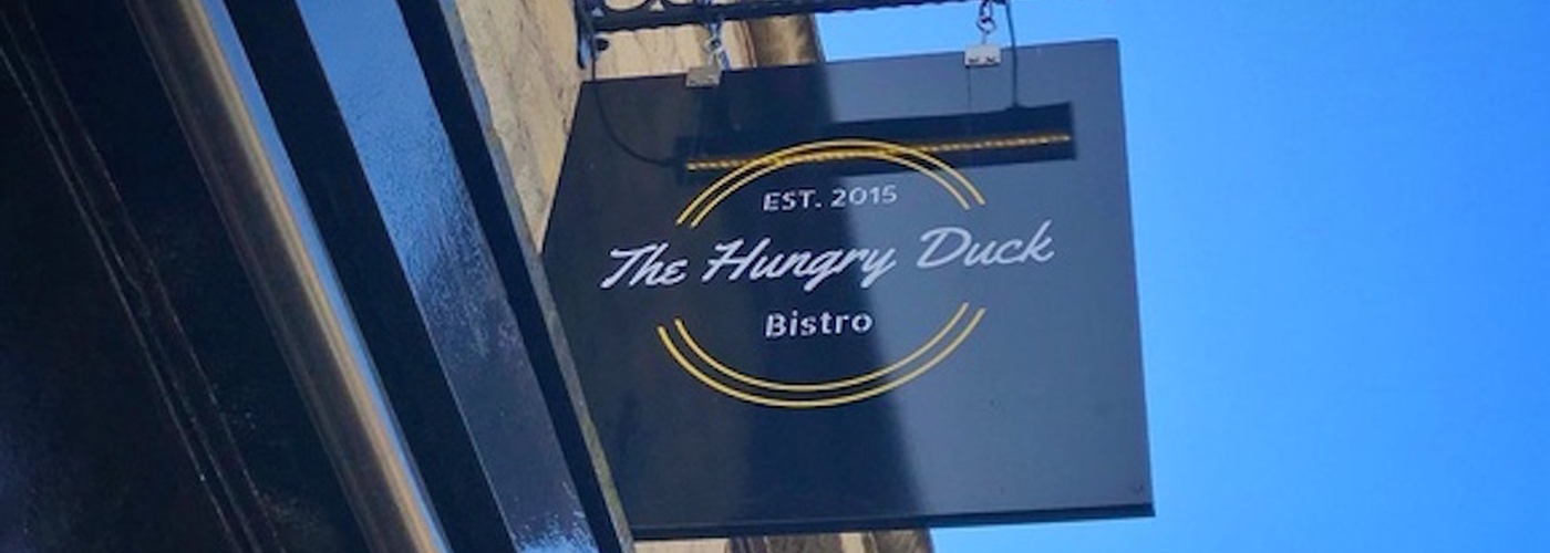 180212 Hungry Duck Ramsbottom Hungry Duck Sign