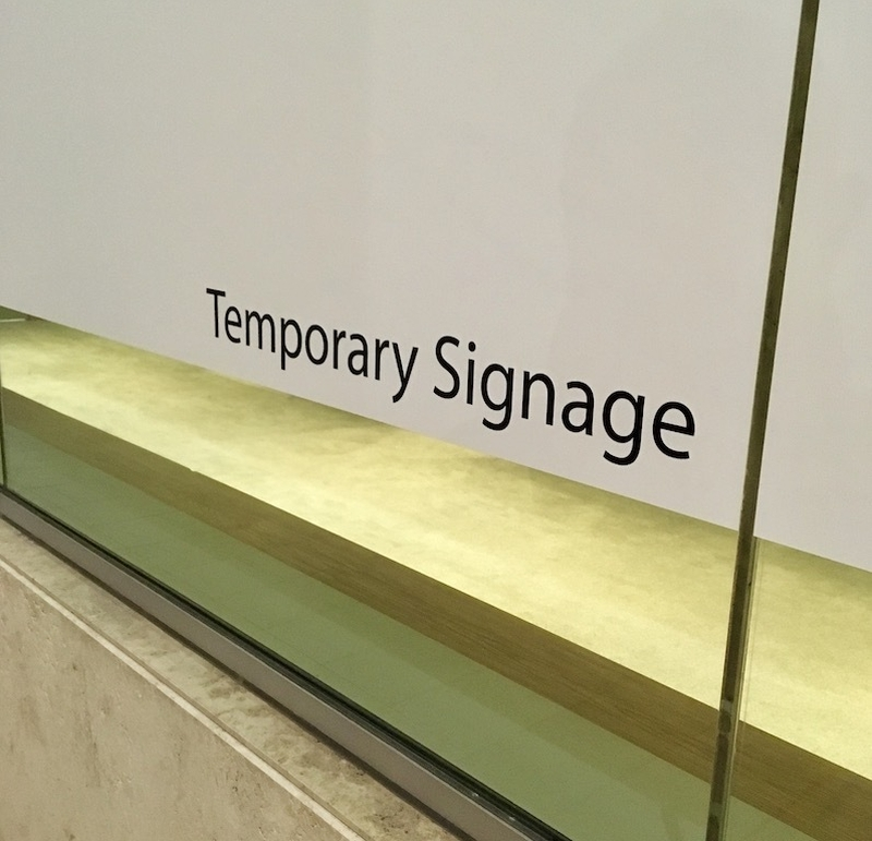 Temporary Sign