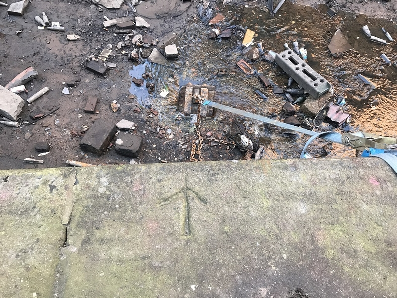 17 02 2019 The Arrow Points To The Two Hundred Year Old Plug For The Rochdale Canal Into The River Tib