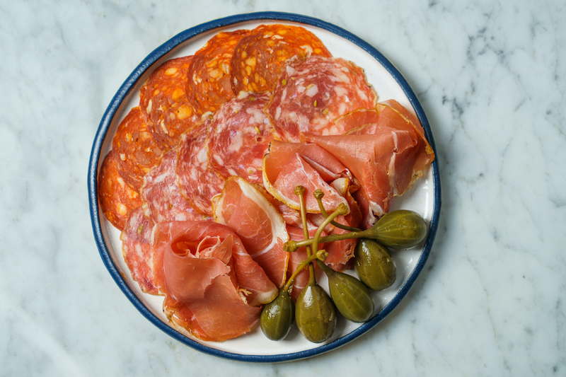 A Plate Of Charcuterie And Capers From Schofields Bar Manchester