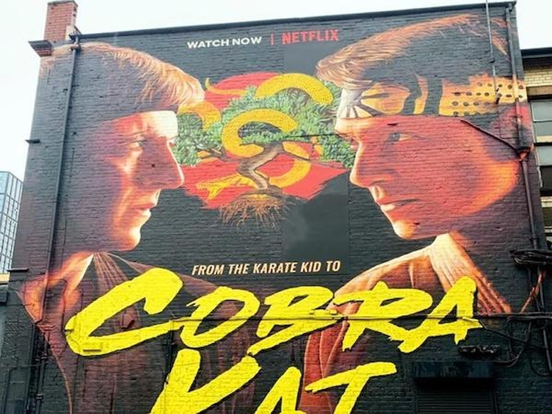Cobra Kai Street Art Northern Quarter Graffitti
