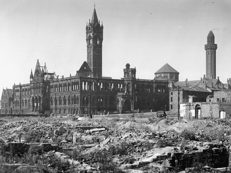 2021 03 24 The Assize Courts Bombed And The Interiors Gone During World War Ii