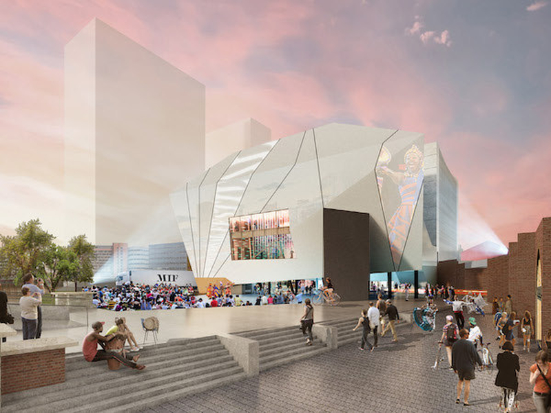 A Cgi Of Manchester International Festival Home The Factory Copyright Oma