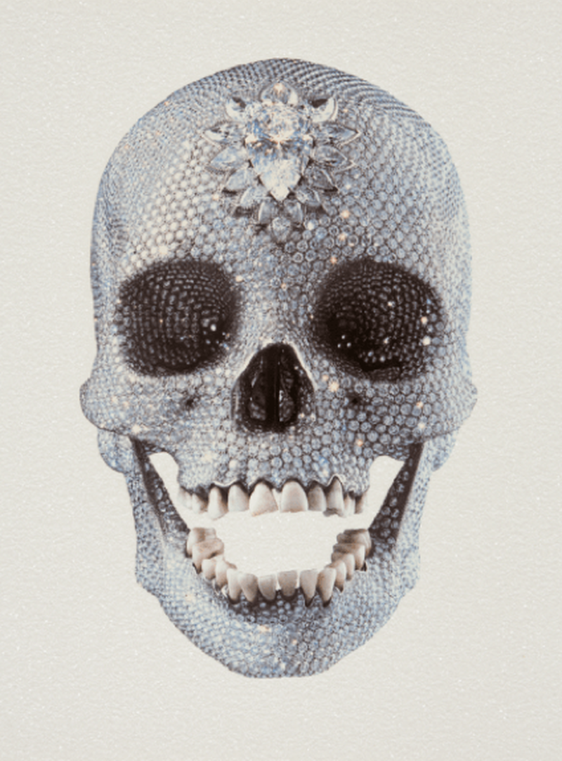 Hirst For The Love Of God White Diamond Dust