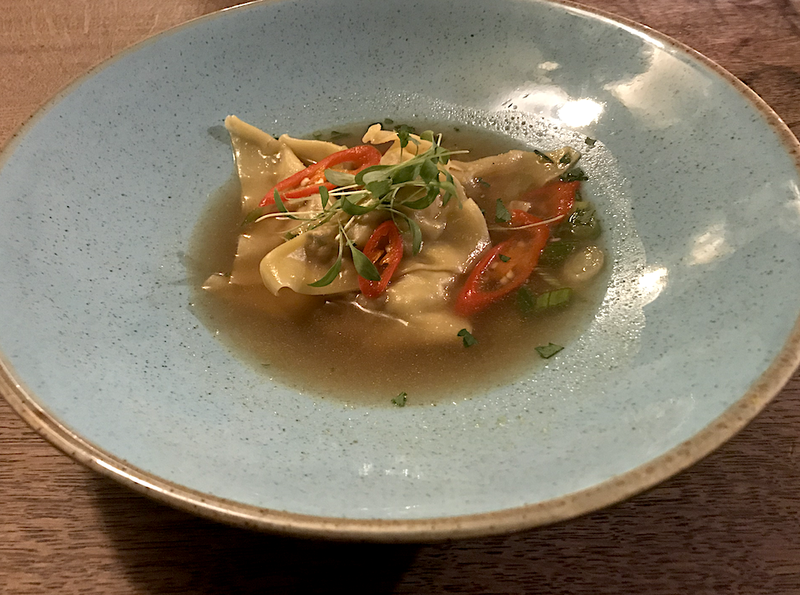 2019 10 24 The Fenwick Hot Sour Broth Duck Prawn Wontons