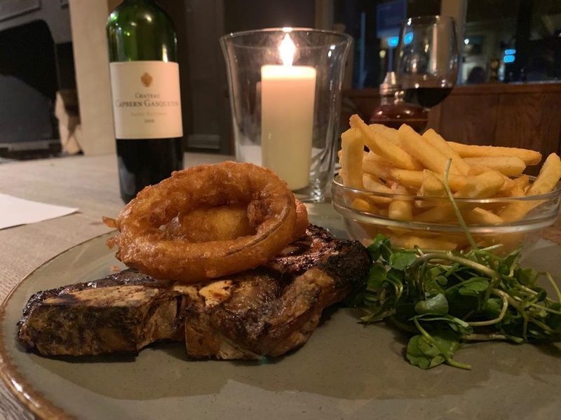 2019 10 24 Fenwick Steak Night T Bone With Candle And Wine