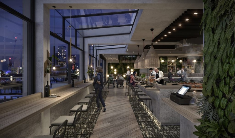 2019 11 01 Property Blackfriars Rooftop Restaurant Interior And View