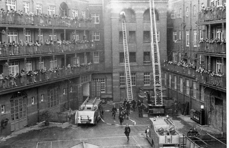 2019 12 12 London Road Fire Station Courtyard Old