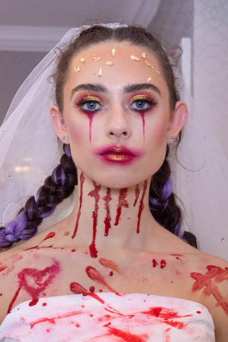 Watch - Zombie bride Halloween makeup transformation 2018