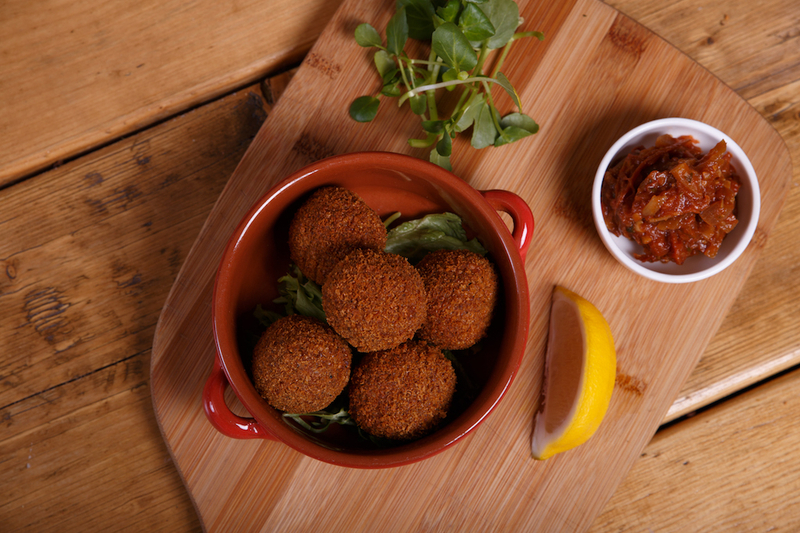 180216 Eat Leeds Cantina Quinoa Arancini Balls With Smokey Tomato Chooka