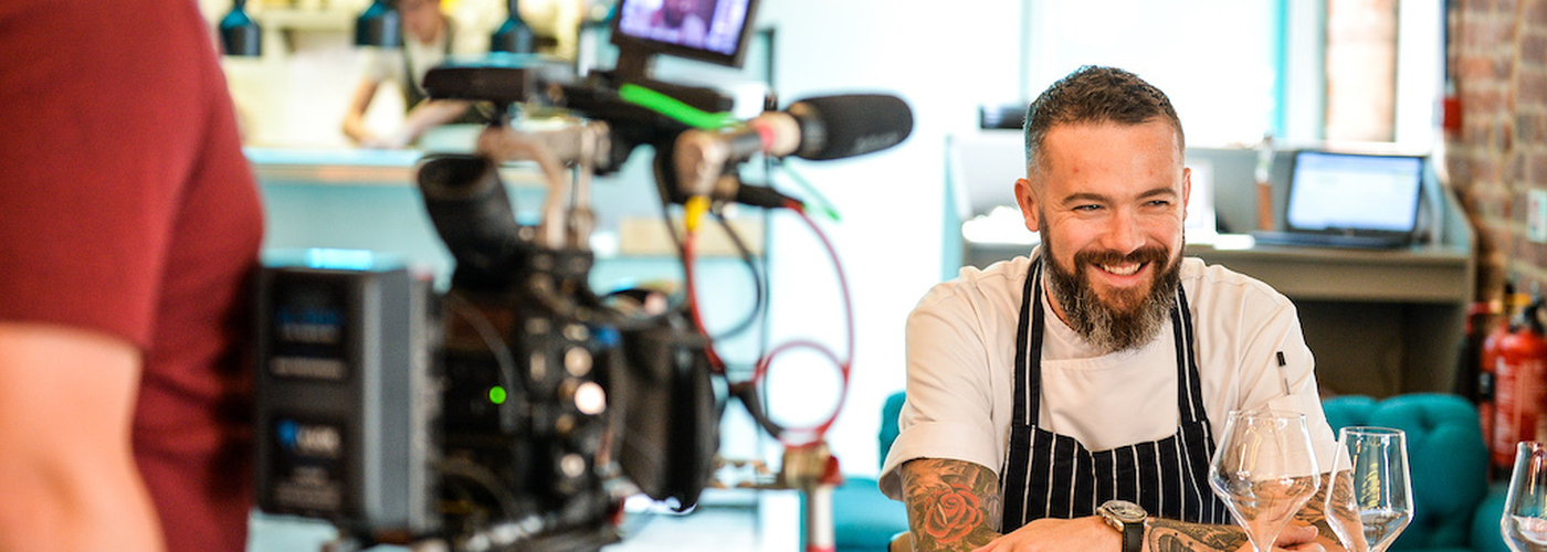 Chef Matt Healy During Filming At His Restaurant Matt Healy X The Foundry