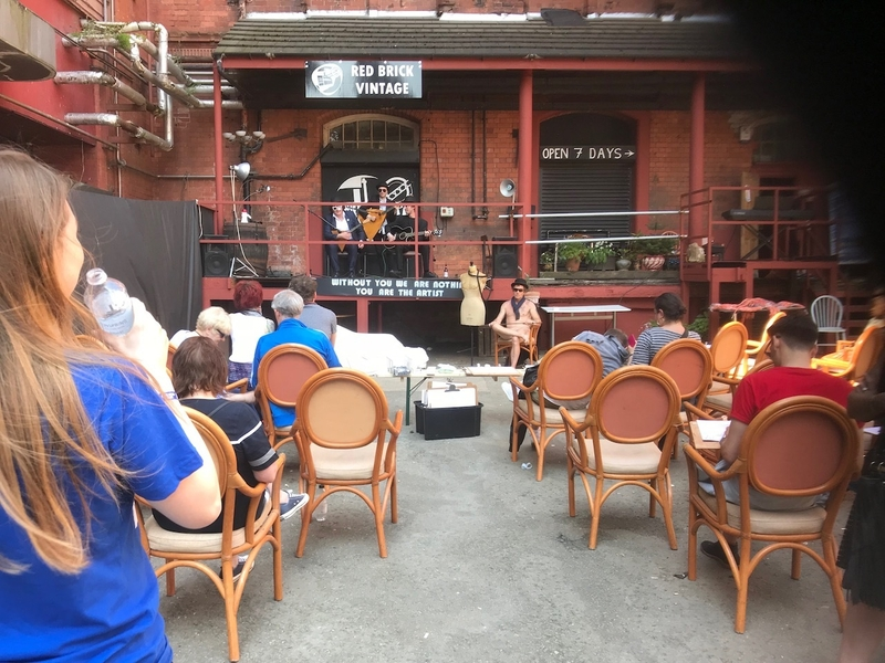 180509 Cains Brewery Cains Brewery Village Courtyard Live Art Peroformance
