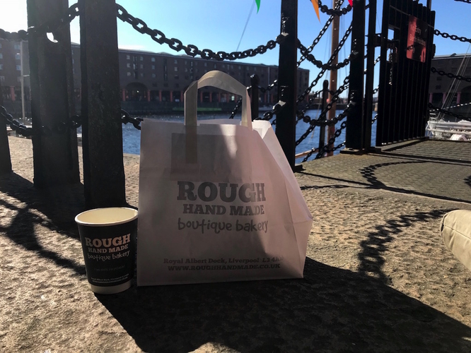 Rough Hand Made Bag And Coffee And Albert Dock 1