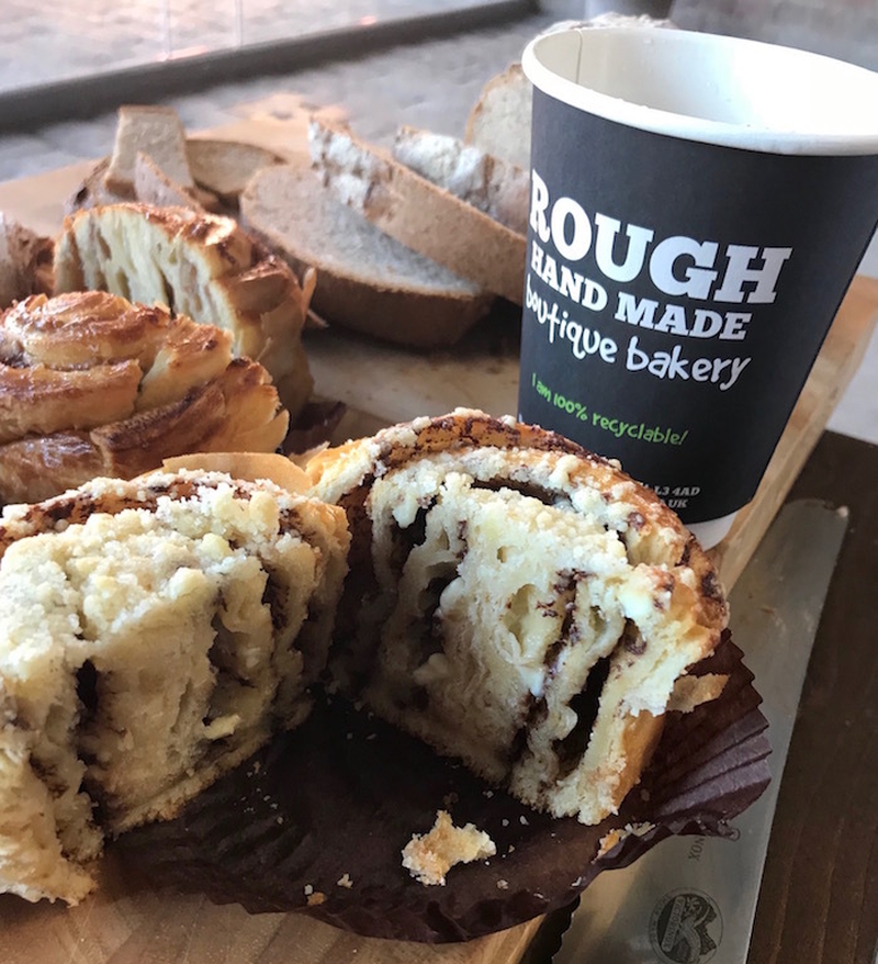 Rough Hand Made Interior Best Selling Beligan Choc And White Choc Chunk Croissant Bun 1