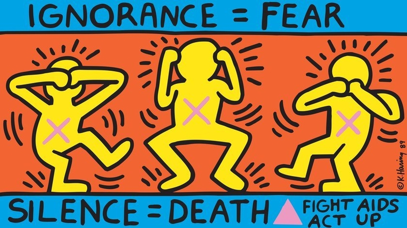 2018 11 12 Keith Haring Ignorance Fear 1989 Copyright Expired