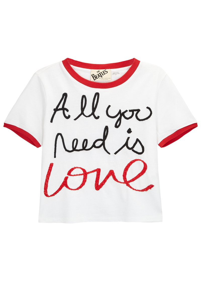 Harvey Nichols Manchester Alice Olivia Ao C The Beatles Cindy Cropped T Shirt £200 Available Online
