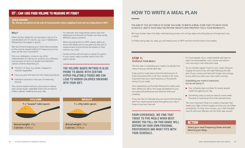 3 Up Vol 2 How To Write A Meal Plan
