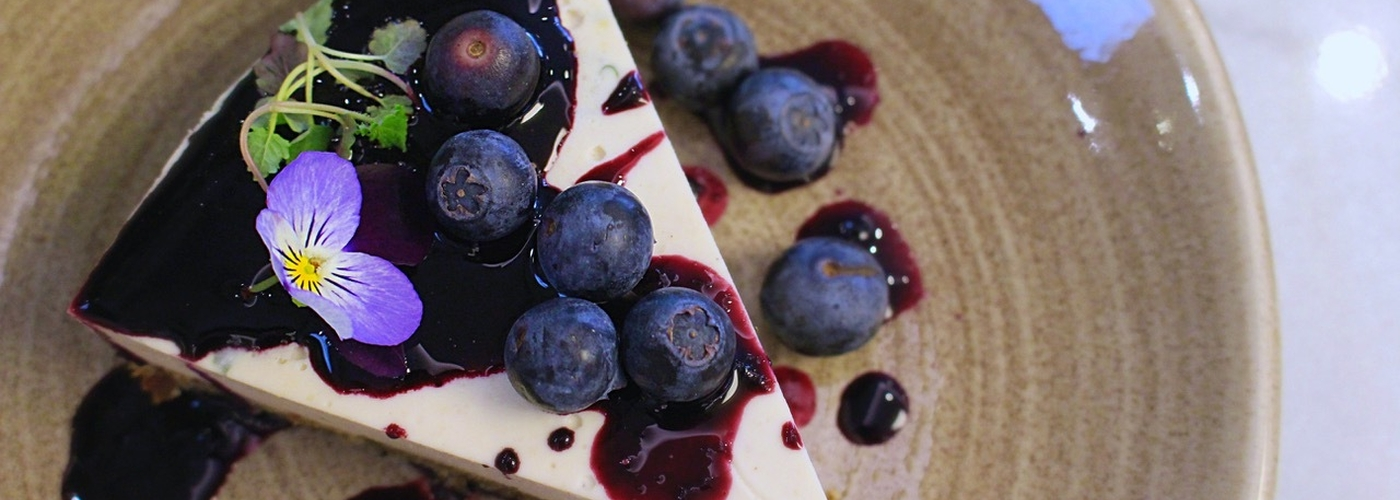 Blueberry Basil Cheesecake