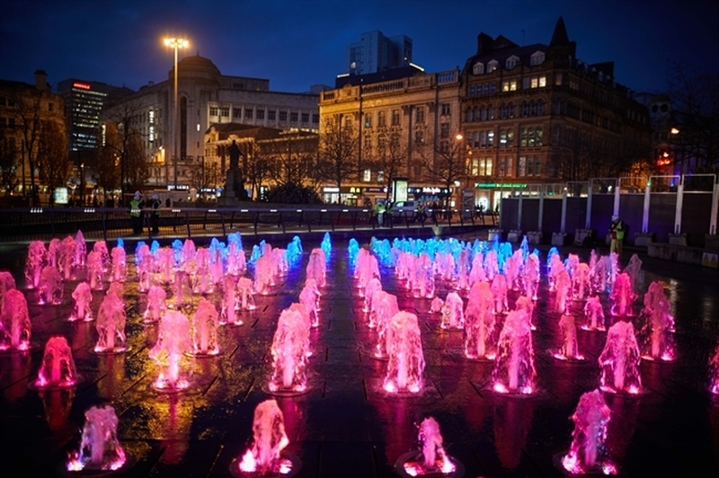 Piccadilly Gardens Fountain 64Ty