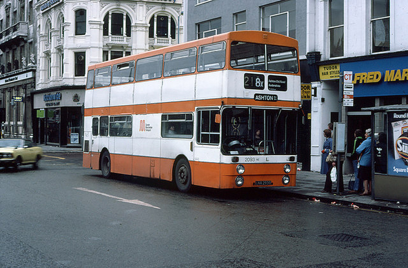 Manchester 1980S 218 Bus To Ashton