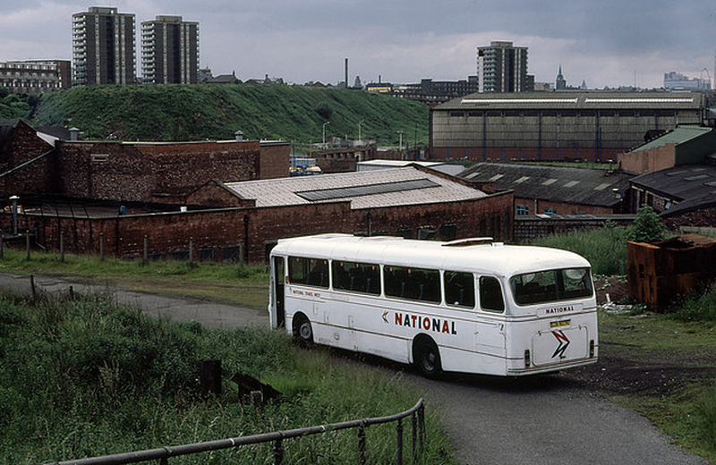 Manchester 1980S Bus Beside The River Irk