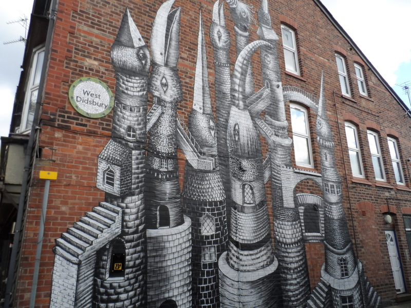 180405 Didsbury Credit Carolyn Yates Bird Towers Mural At Folk 2