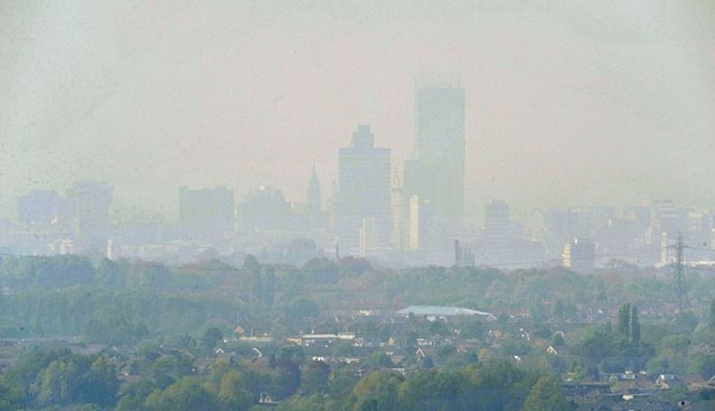 Manchester Skyline Air Pollution