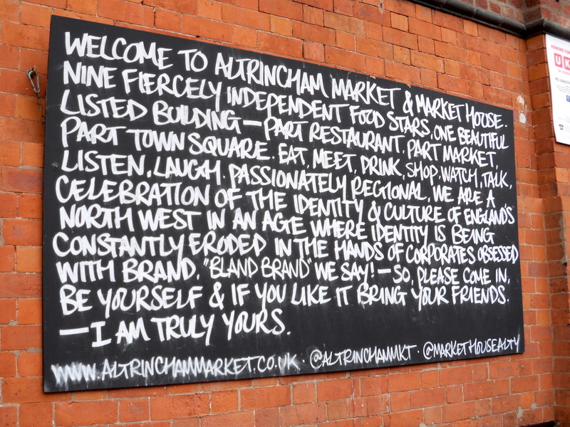 180504 How To Spend A Weekend Altrincham Market Board Outside