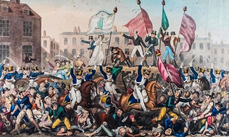 2018 08 07 Peterloo Massacre Print By Richard Carlile Copyright Manchester Libraries