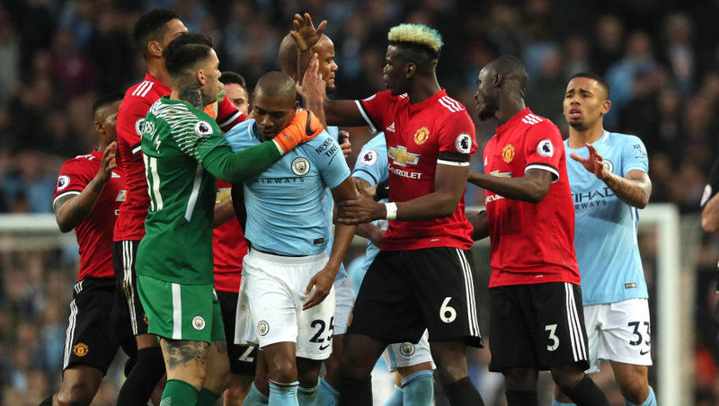 Manchester City V Manchester United Premier League