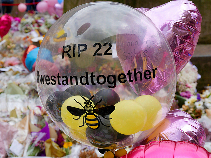 Manchester Arena Attack St Anns Square Balloons