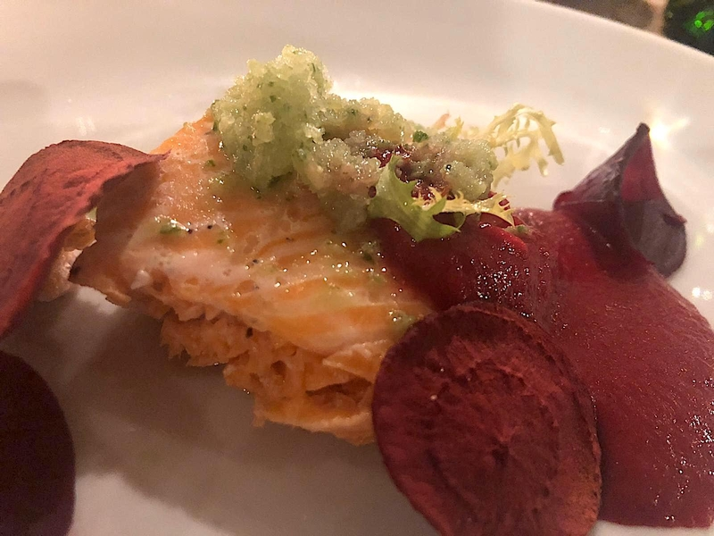 2019 10 22 Derby Arms Sea Trout Beetroot