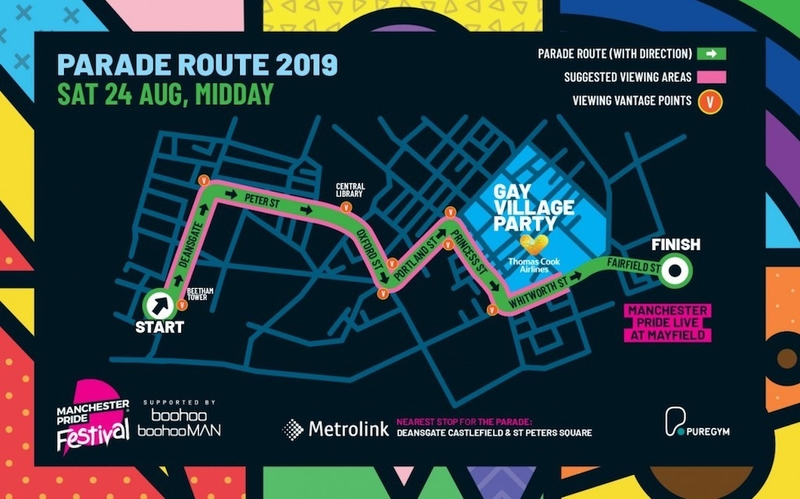 2019 08 21 Pride Parade Route