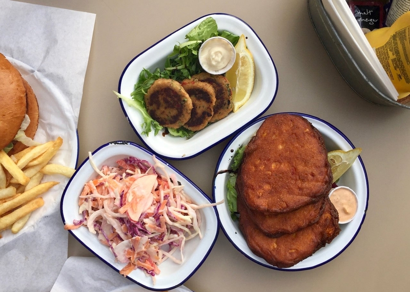2019 07 23 Free State Kitchen Fritters Crabcakes Coleslaw