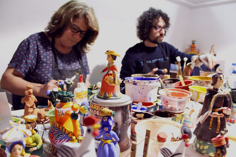 2018 05 30 Estremoz Painting Clay Figures