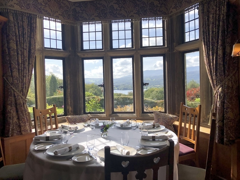 2019 10 06 Holbeck Ghyll Dining Room With View