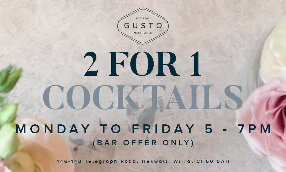 2017 06 21 Gusto Manchester 2-4-1 cocktails