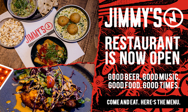 2019 12 24 Jimmy's restaurant now open banners
