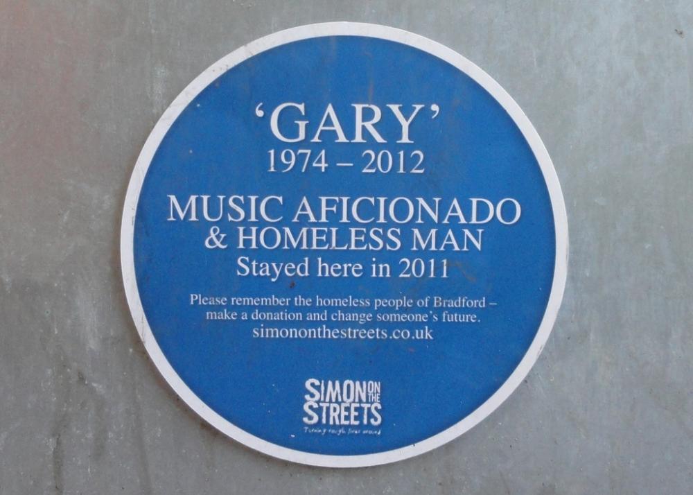 170307 Homeless Simon Streets Plaque