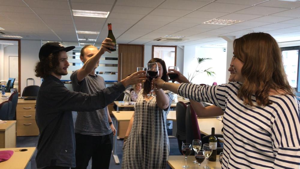 2017 08 03 Deliveroo Office Drinks Cheers
