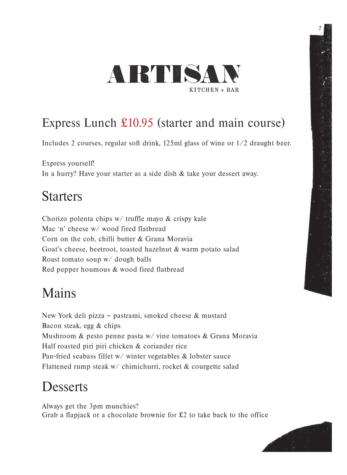 20180129 Artisan Express Main Menu Feb 18 1 1