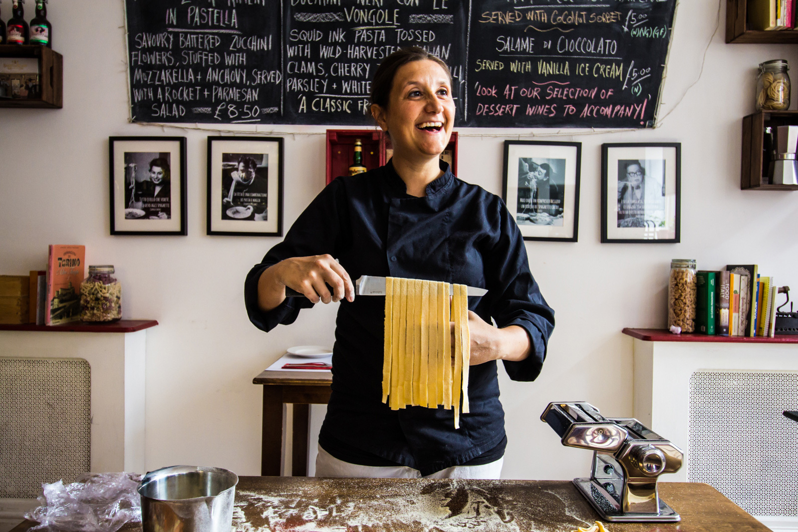 20180718 Pasta Factory Julia Making Bucatini 2