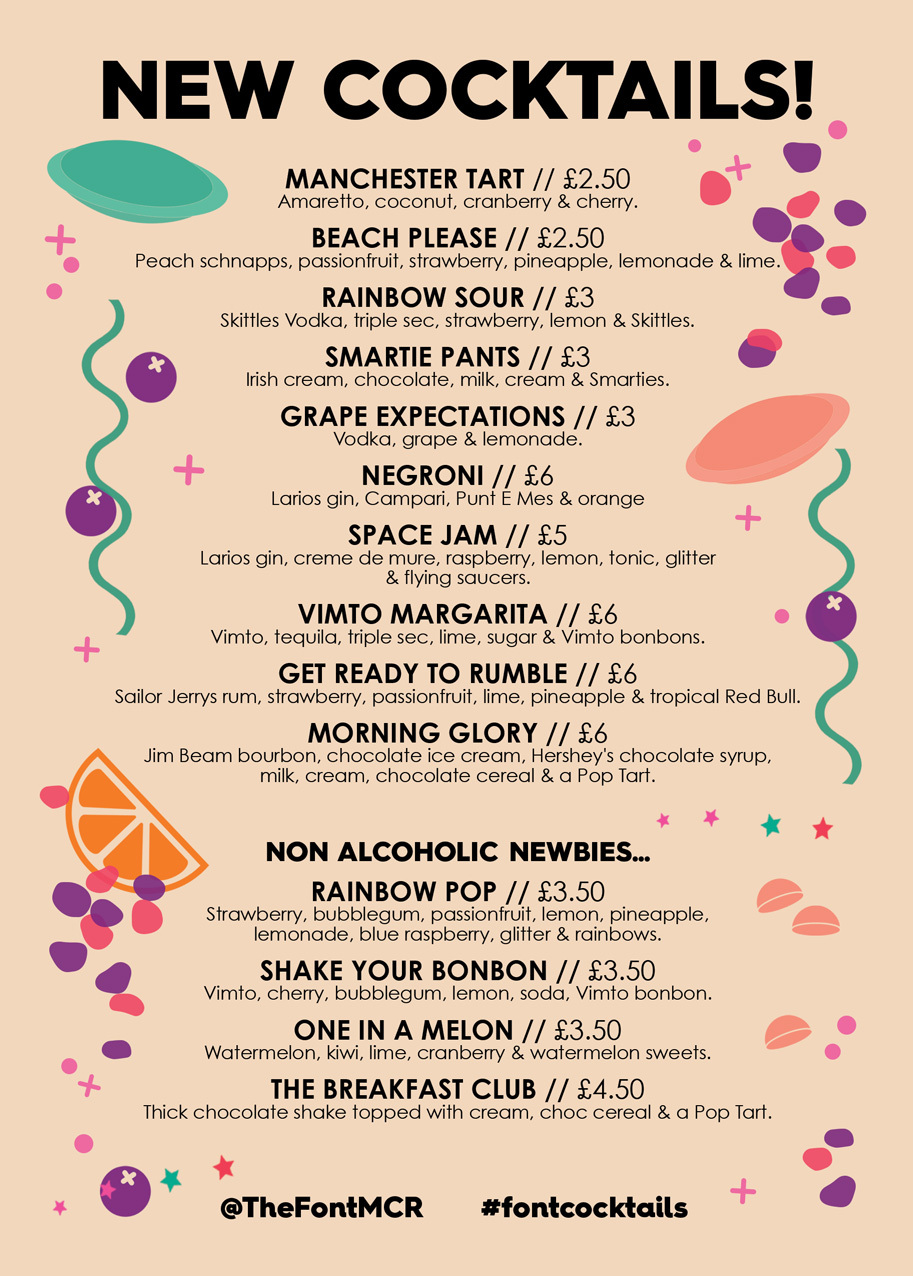 20190510 Font New Cocktails Flyers