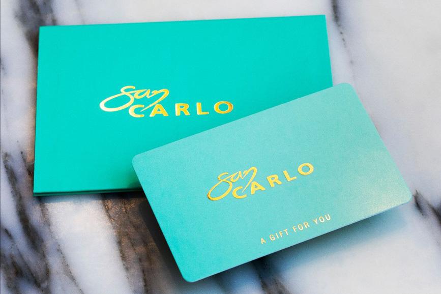 20191116 San Carlo Gift Cards 867X578