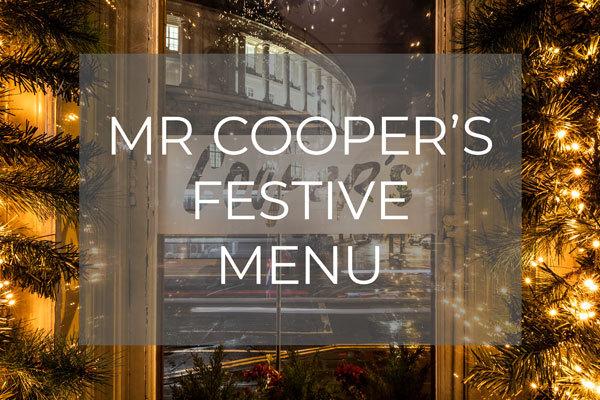 Mr Cooper's Festive Menu