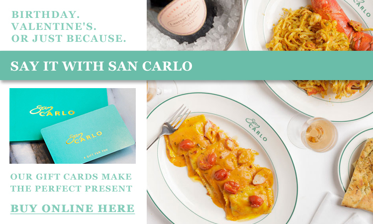 San Carlo Lunch Campaign Banners