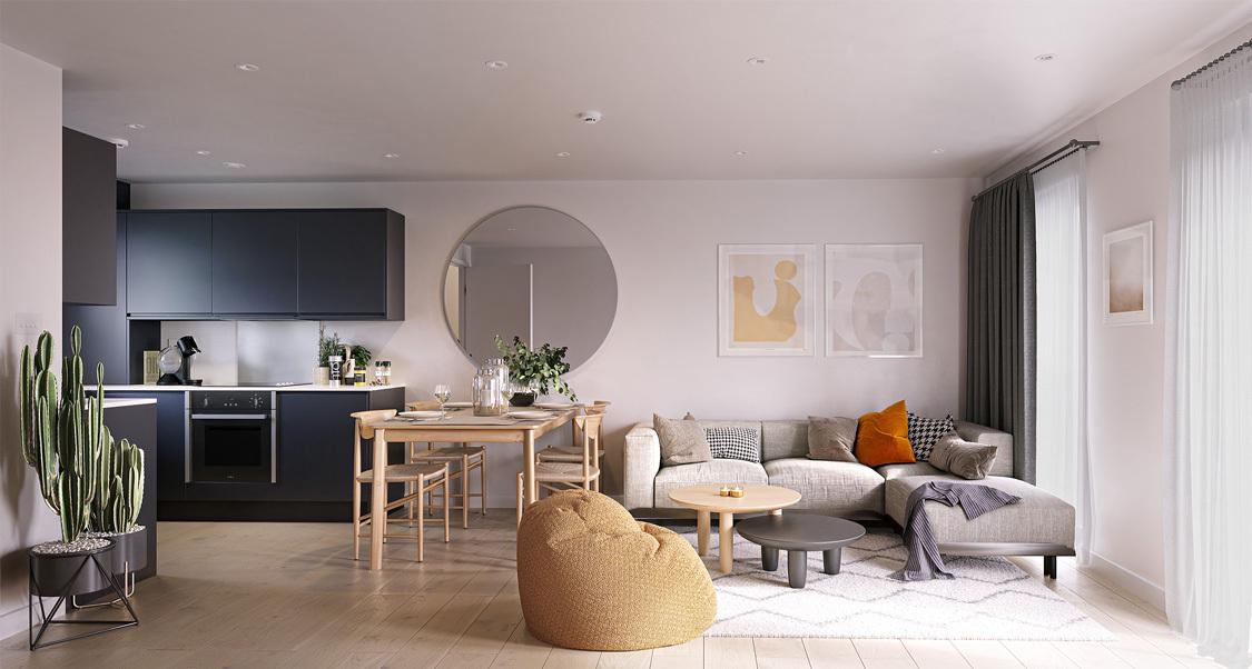 20210915 Salboy Castle Irwell Interior House Type G Living Kitchen Final Low Res