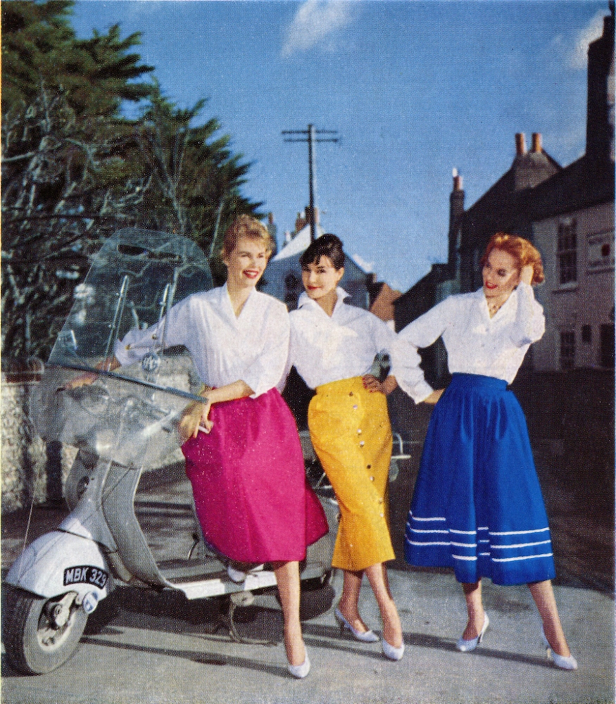 170615 Ms Vintage Fashion Skirts Feb 1958