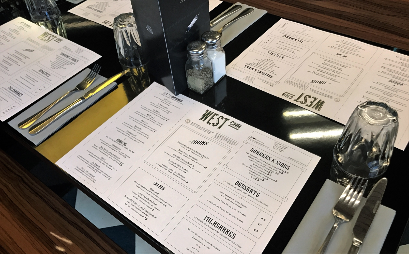 West Corner Table Setting